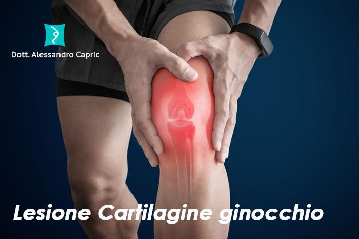 lesione cartilagine ginocchio sintomi